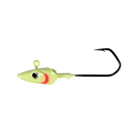HOGY Barbarian Fish Head Jig Glow 1pk [6/0 x 3/4oz.]
